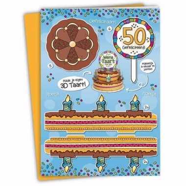 Mega 3d taart kaart abraham 50 jaar