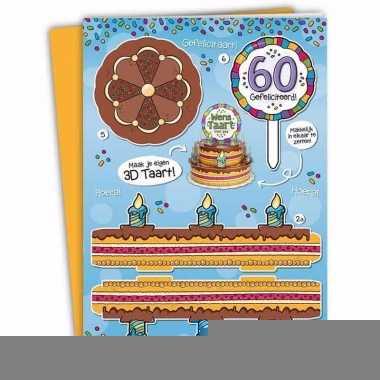 Mega 3d taart kaart abraham 60 jaar
