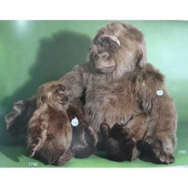Mega grote gorilla knuffeldier 80 cm