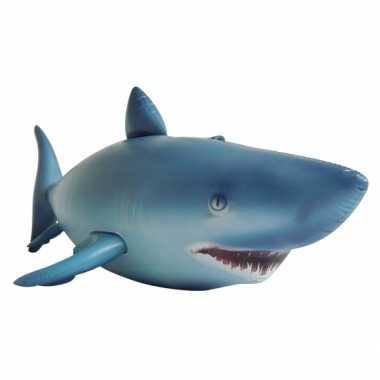 Mega realistische opblaas haai 213 cm