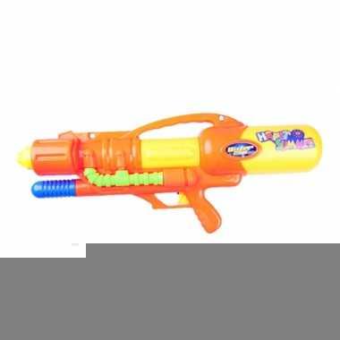 Mega watergeweer oranje met pomp