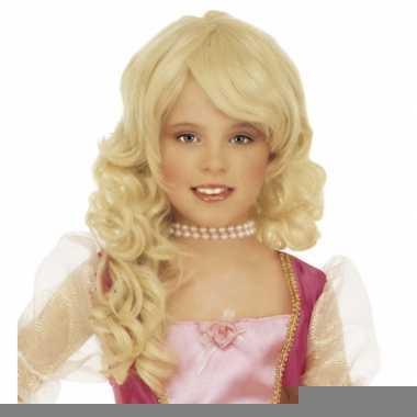 Meisjes pruiken met blonde krullen