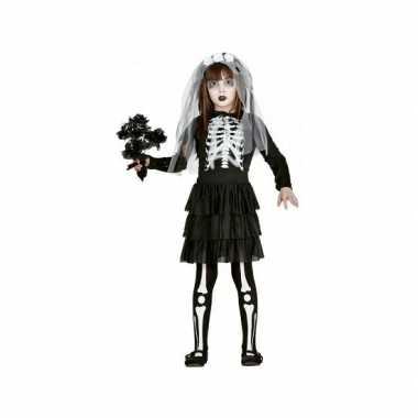 Meisjes skelet bruidsjurk