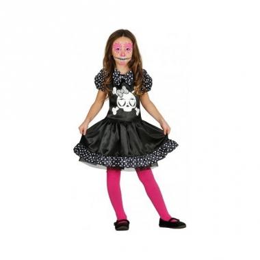 Meisjes skelet jurk met stippen