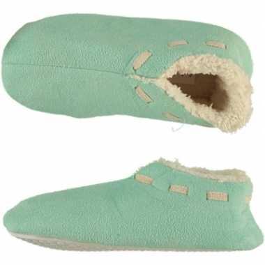 Meisjes spaanse sloffen/pantoffels mint maat 33-34