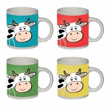 Melkbeker met koe erop