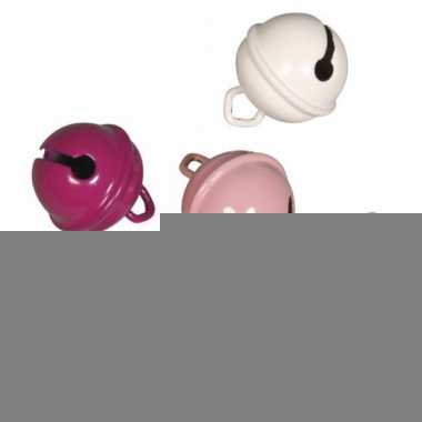 Metalen belletjes roze mix 19 mm