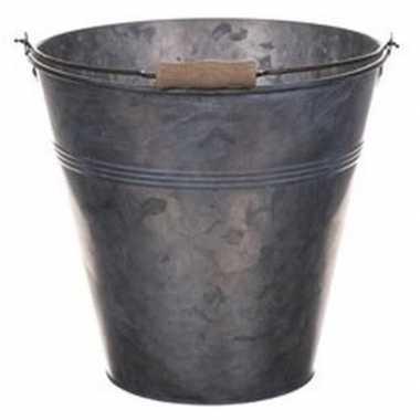 Metalen drankemmer/drankkoeler grijs 13 liter