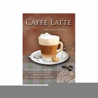 Metalen plaat caffe latte