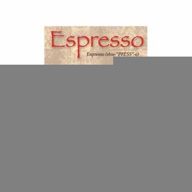 Metalen plaat espresso