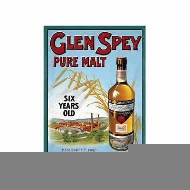 Metalen plaat glen spey whiskey