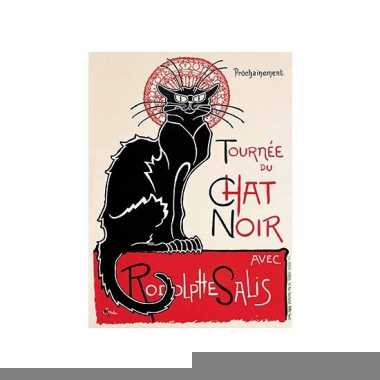 Metalen plaat le chat noir cabaret