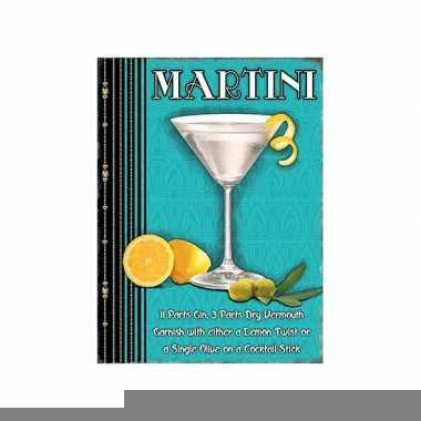Metalen plaat martini cocktail