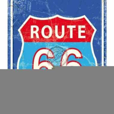 Metalen plaat route 66