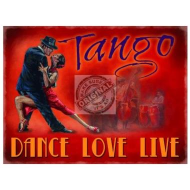 Metalen plaat tango