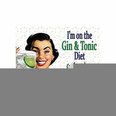 Metalen plaat van gin dieet