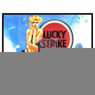 Metalen plaat van lucky strike