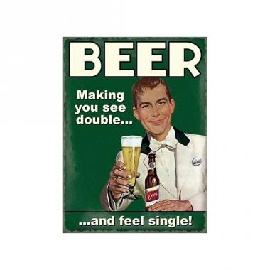 Metalen platen beer see double
