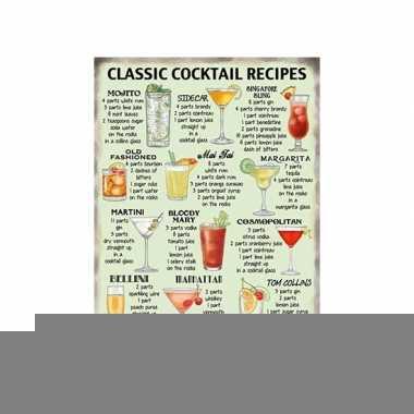 Metalen platen cocktail recipes