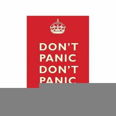 Metalen platen don't panic