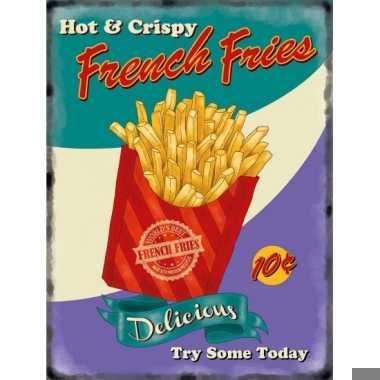 Metalen platen french fries
