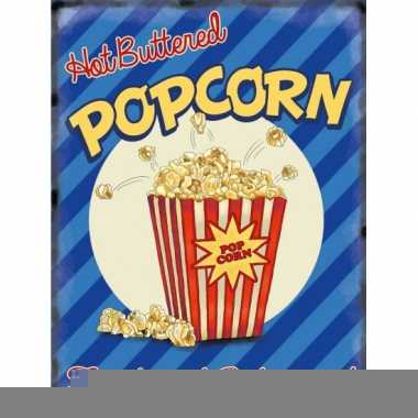 Metalen platen popcorn