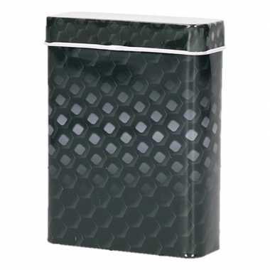 Metalen sigarettenblikje honingraat zwart/grijs