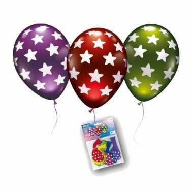 Metallic gekleurde ballonnen met sterren