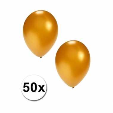 Metallic goud ballonnen 36 cm