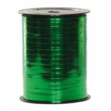 Metallic groen rol cadeau lint 250 m