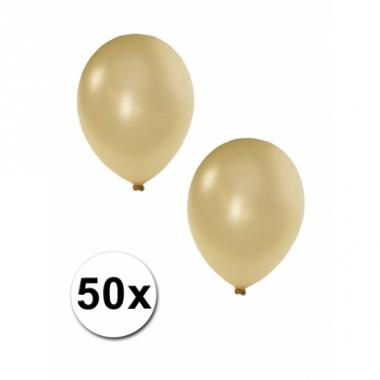 Metallic ivoor ballonnen 36 cm