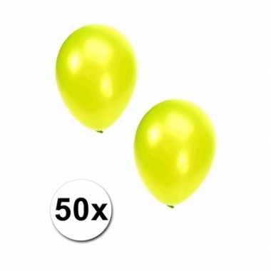 Metallic lime ballonnen 36 cm