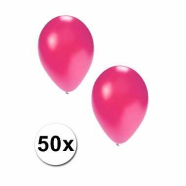 Metallic roze ballonnen 36 cm