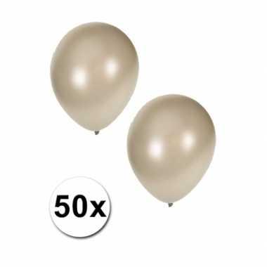 Metallic zilver ballonnen 36 cm