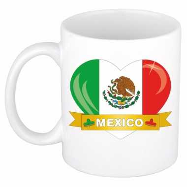 Mexicaanse vlag hartje theebeker 300 ml