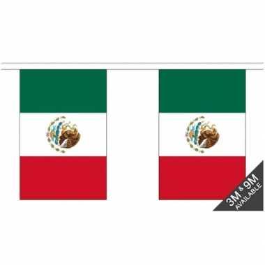 Mexico vlaggenlijn van stof 3 m