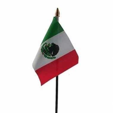 Mexico vlaggetje met stokje
