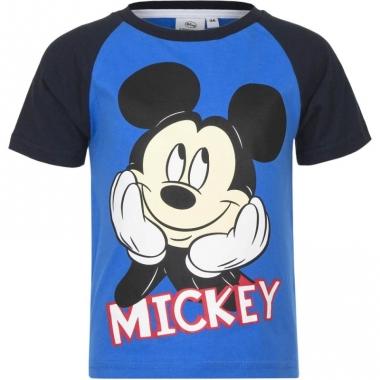 Mickey mouse t-shirt blauw/zwart voor jongens