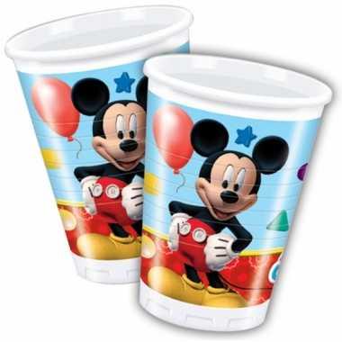 Mickey mouse wegwerp bekertjes 8 stuks