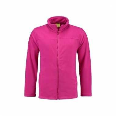 Microfleece vest fuchsia voor dames trend