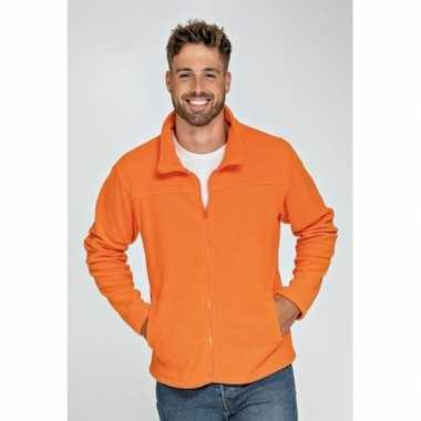 Microfleece vest oranje voor volwassenen