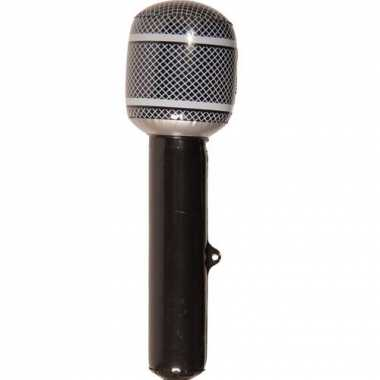 Microfoon decoratie zwart