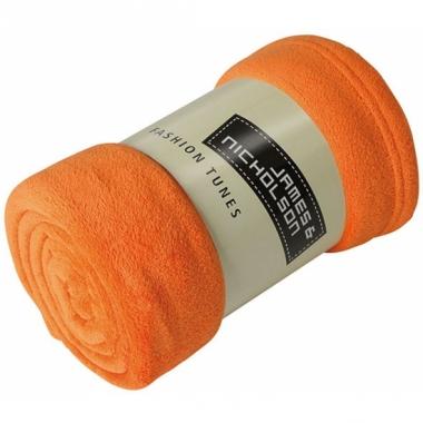 Microvezel fleece deken oranje