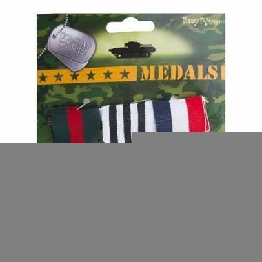 Militaire medailles 3 stuks