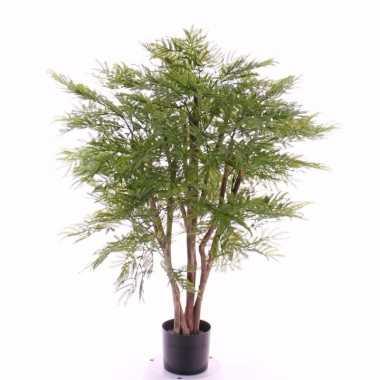 Mimosastruik kunstplant 110 cm in pot voor binnen/buiten