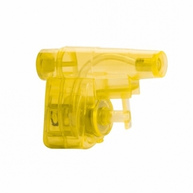 Mini geel waterpistool 5 cm trend