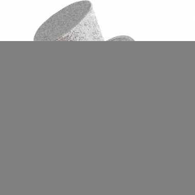 Mini hoedje zilver op haarband