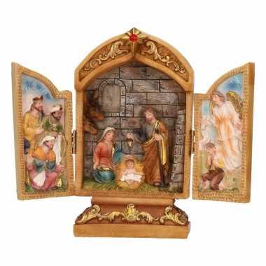 Mini kapel met heilige familie 18 cm