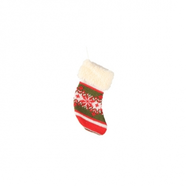 Mini kerstsokje gebreid