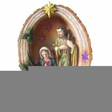 Mini kerststal met led licht 15 cm